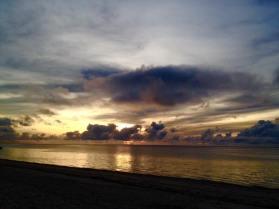 Sunrise at Shanzu Beach in Mombasa, Kenya