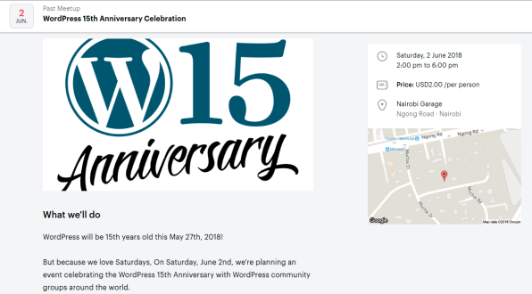 Wordpress 15th Anniversary in Nairobi