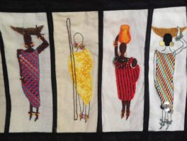 Barocco - The Red Dress Project - designed and embroidered by members of the Kenya Embroiderers' Guild - Part 2