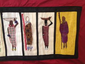 Barocco - The Red Dress Project - designed and embroidered by members of the Kenya Embroiderers' Guild - Part 6