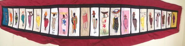 Barocco - The Red Dress Project - designed and embroidered by members of the Kenya Embroiderers' Guild - Complete