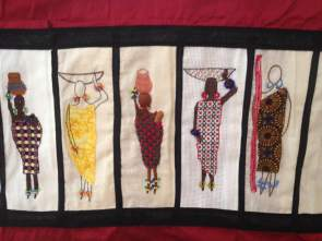 Barocco - The Red Dress Project - designed and embroidered by members of the Kenya Embroiderers' Guild - Part 5