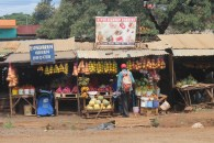 Street stalls on the outskirts of Nairobi