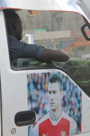 Football themed matatu in Nairobi