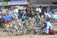 Bike repair shop in Nairobi