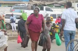 Crossing the road in Nairobi