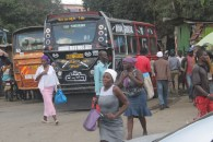 Running for the bus in Nairobi