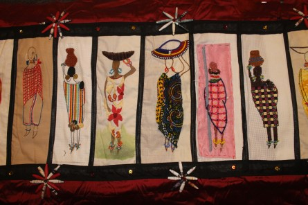 Barocco - The Red Dress Project - designed and embroidered by members of the Kenya Embroiderers' Guild Part 3