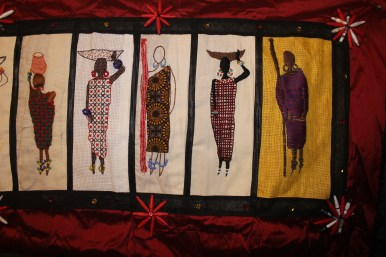 Barocco - The Red Dress Project - designed and embroidered by members of the Kenya Embroiderers' Guild Part 5