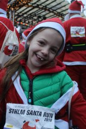 Lottie at the 2018 Stockholm Santa Run