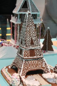 Gingerbread Eiffel Tower at the ArkDes 2018 Exhibition