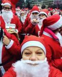 Santa run selfie