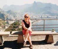 Ali on Sugarloaf Mountain in Rio de Janeiro, Brazil