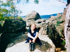 Just after my picnic at Hanging Rock in Victoria, Australia