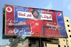 Mohamed Salah posters everywhere in Cairo, Egypt