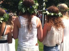 Flowers in their hair, Midsummer in Sweden