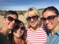 With my best friends, Tash, Clara and Nats in Norfolk, UK