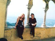 With Faye at Palácio da Pena in Sintra, Portugal