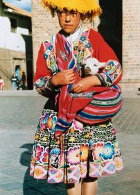 Girl in National Costume in Cuzco, Peru