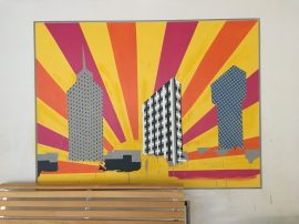 Kista's Three Towers mural at IES Kista