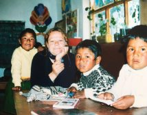 School on the Isla Del Sol, Lake Titikaka, Bolivia