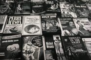 Books in a second hand book market, Amsterdam