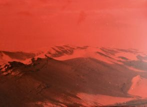The Syrian Desert through a red filter