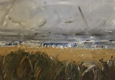 Stormy sea at Hunstanton, England