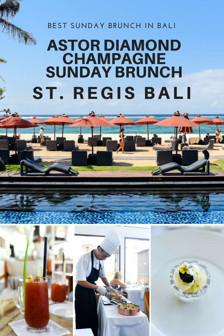 Astor Diamond Champagne Sunday Brunch at St. Regis Bali
