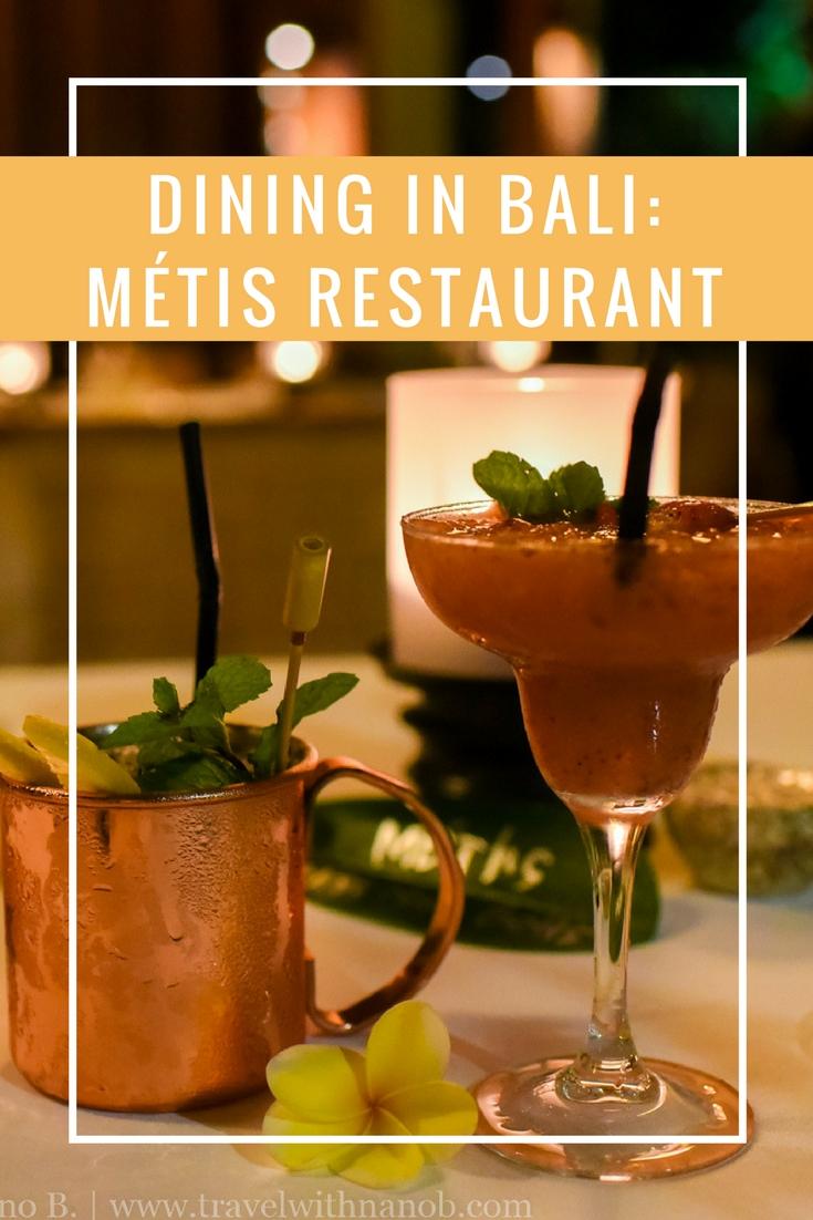 Dining in Bali - Metis Restaurant