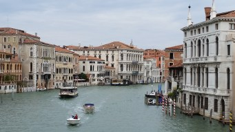 View of the Grand Canal from the Acedemia Bridge