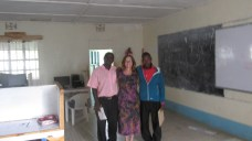 Photo of me and two primary school teachers who attended the computer workshop. where I presented along with the Computer teacher at Luuya Girls' School.