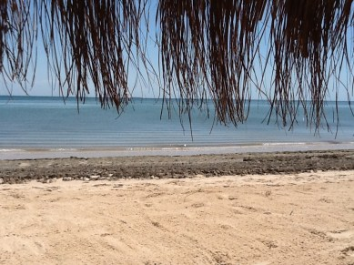 Beach view from hut in Mozambique