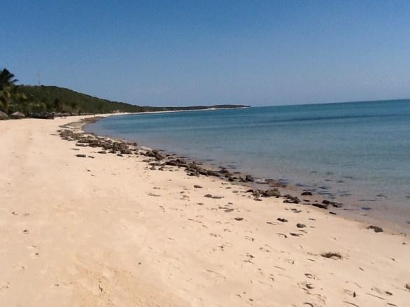 Deserted beach on Mozambique shore