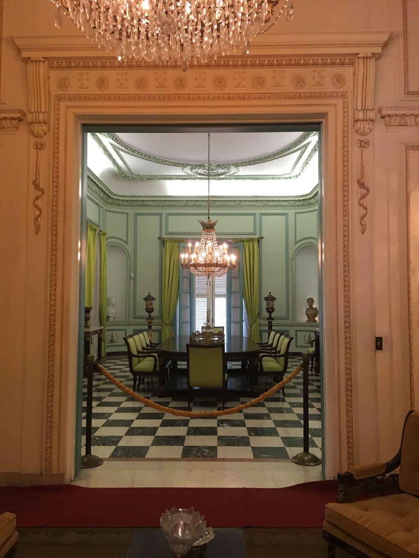 Dining room at the Napoleon Museum in Havana, Cuba.