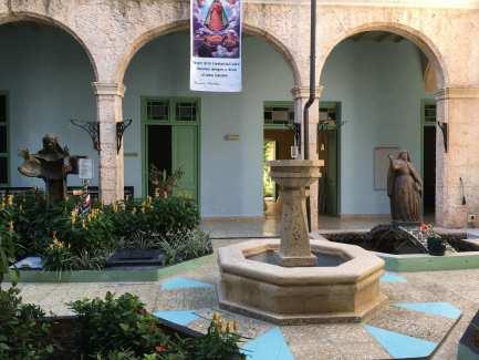 Convent run by nuns. Courtyard in Havana, Cuba