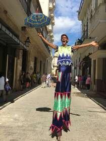 Havana, Cuba, quirky, man on stilts,