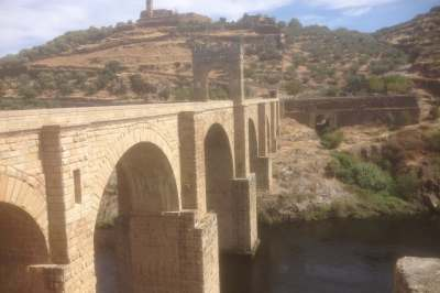 The Alcantara Roman bridge in Extremadura Spain
