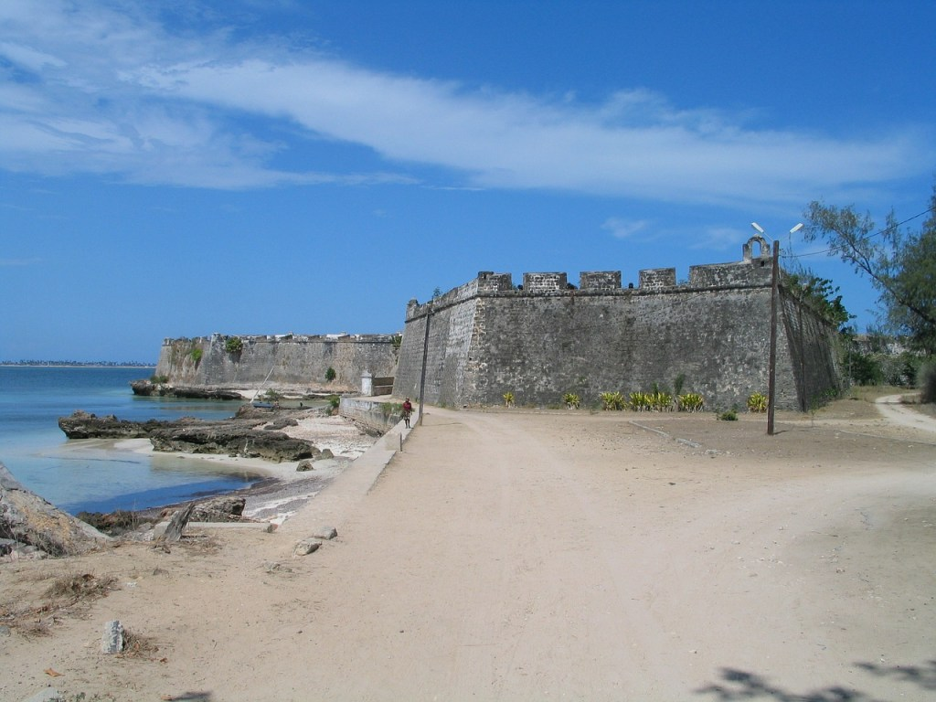 Abandoned Portuguese fort on the coast of Mozambique