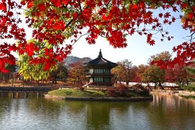 Beijing gardens and lake