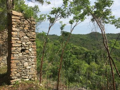 Las Terrazas, Artemisa, Cuba, abandoned slave quarters, French coffee plantation