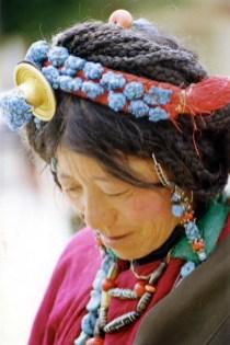Tibetan woman in Lhasa, Tibet