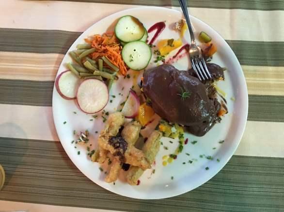 Vegetarian dishes in Las Terrazas, Artemisa, Cuba,