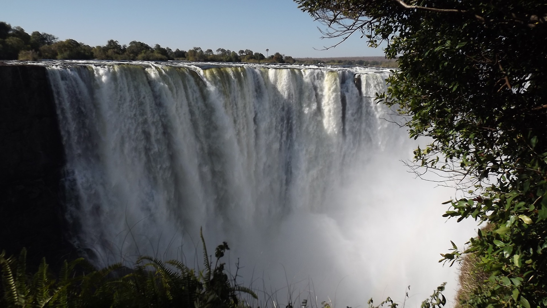Here is where people go white water rafting on the Zambezi River