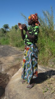 Local Mozambique woman in native dress