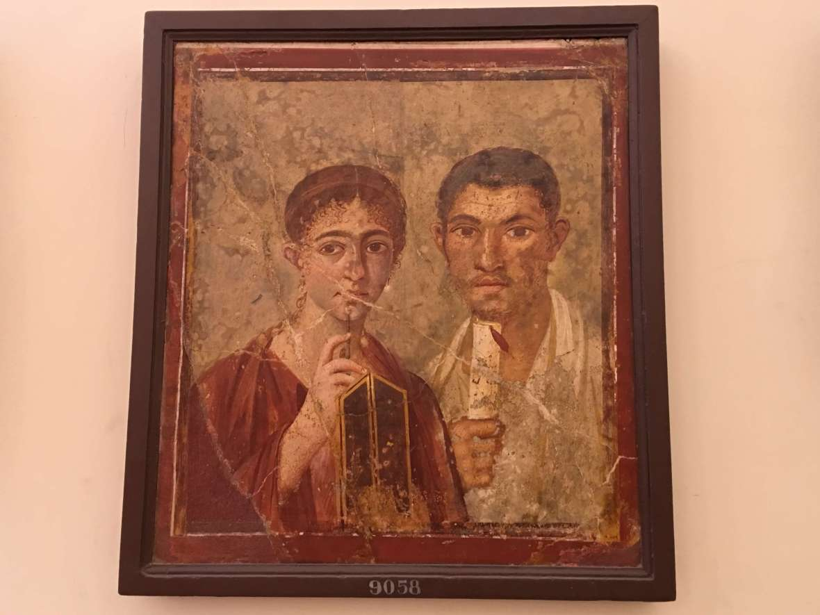 Terentius Neo portrait in Naples
