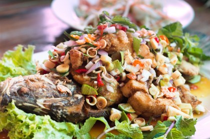 Picture of Thai fish dinner