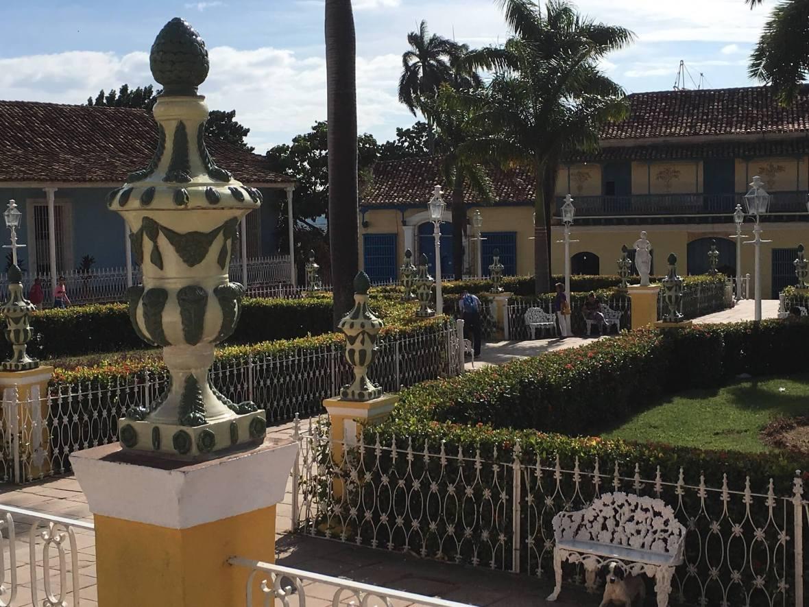 Plaza Mayor, main square in Trinidad, Cuba