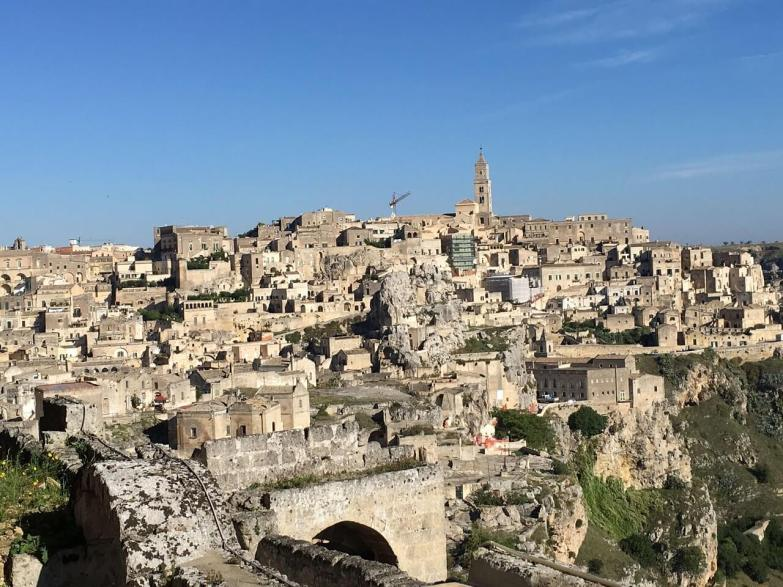 Matera from a distance