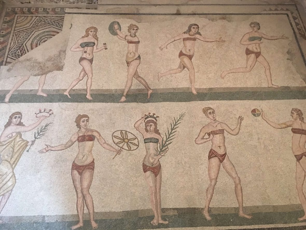 Dancing girls mosaics in Casale